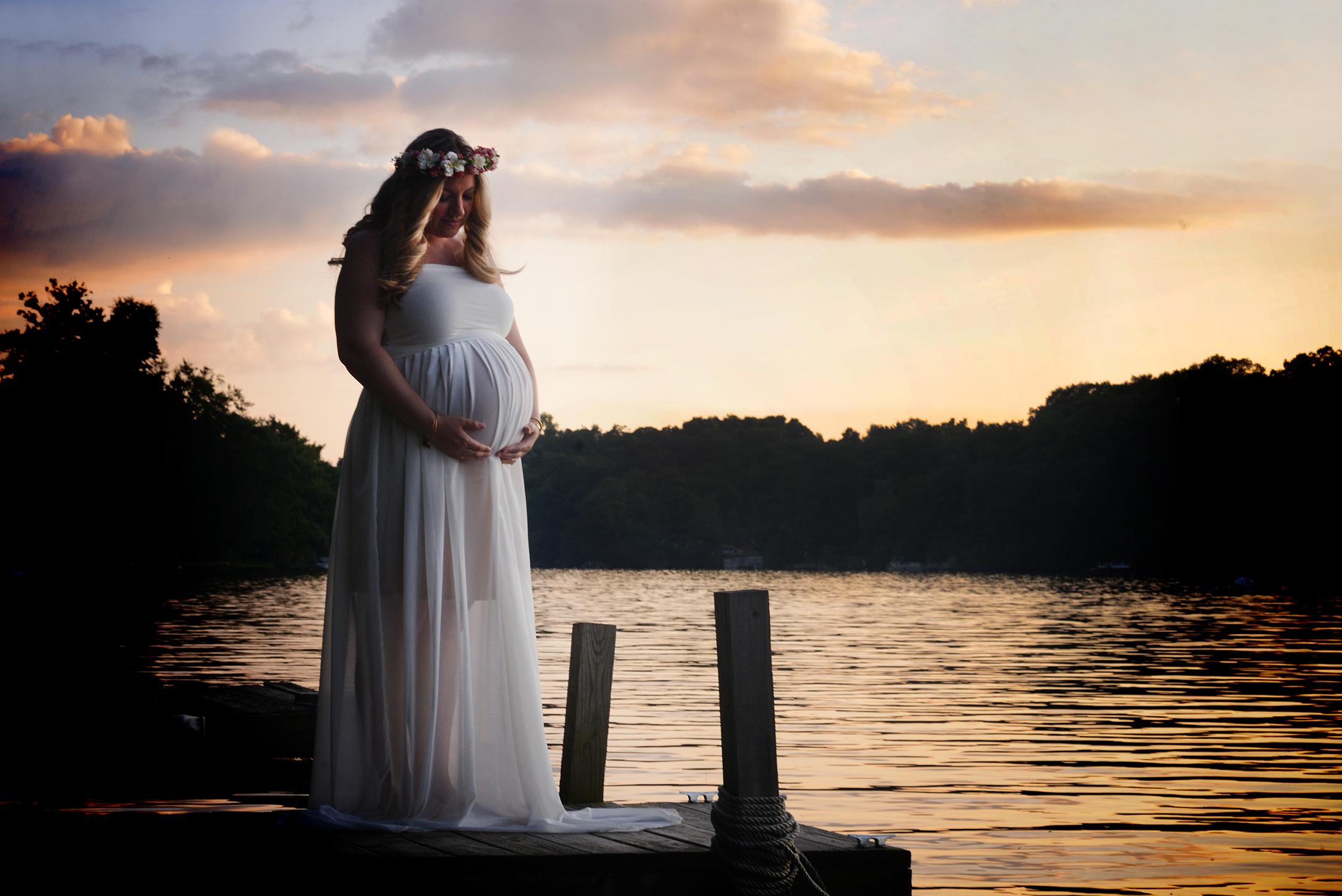 sunset maternity lake